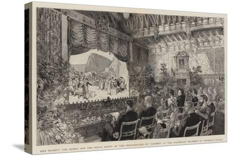 Her Majesty the Queen and the Royal Party at the Performance of Carmen in the Waterloo Chamber at W--Stretched Canvas Print
