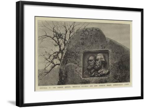Memorial to the French Artists, Theodore Rousseau and Jean Francois Millet, Fontainebleau Forest--Framed Art Print