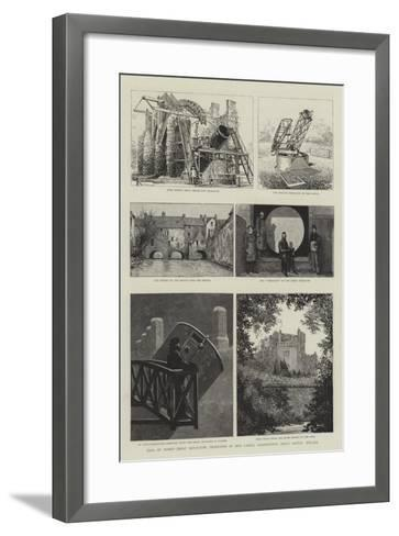 Earl of Rosse's Great Reflecting Telescopes at Birr Castle, Parsonstown, King's County, Ireland--Framed Art Print