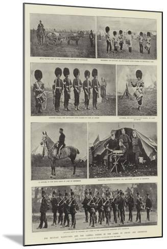 The Military Manoeuvres and the Camera, Scenes in the Camps of Churn and Crookham--Mounted Giclee Print