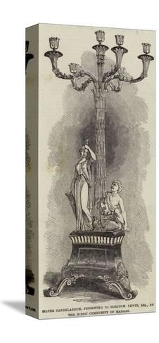 Silver Candelabrum, Presented to Malcolm Lewin, Esquire, by the Hindu Community of Madras--Stretched Canvas Print