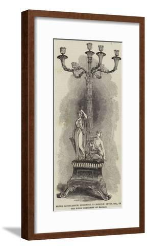 Silver Candelabrum, Presented to Malcolm Lewin, Esquire, by the Hindu Community of Madras--Framed Art Print