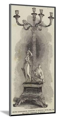 Silver Candelabrum, Presented to Malcolm Lewin, Esquire, by the Hindu Community of Madras--Mounted Giclee Print