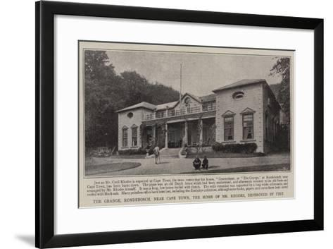 The Grange, Rondebosch, Near Cape Town, the Home of Mr Rhodes, Destroyed by Fire--Framed Art Print