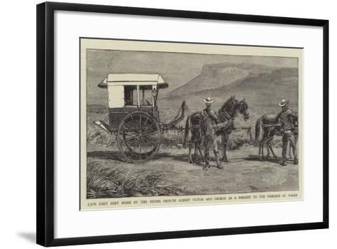 Cape Cart Sent Home by the Young Princes Albert Victor and George as a Present to the Princess of W--Framed Art Print