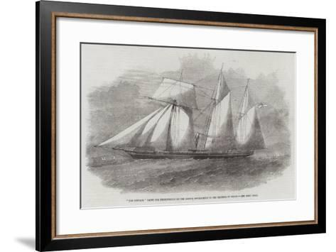 The Emperor Yacht for Presentation by the British Government to the Emperor of Japan--Framed Art Print