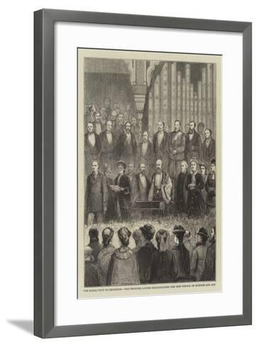 The Royal Visit to Brighton, the Princess Louise Inaugurating the New School of Science and Art--Framed Art Print