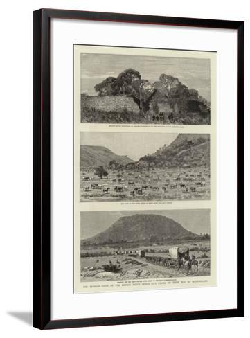 The Pioneer Corps of the British South Africa Co's Forces on their Way to Mashonaland--Framed Art Print