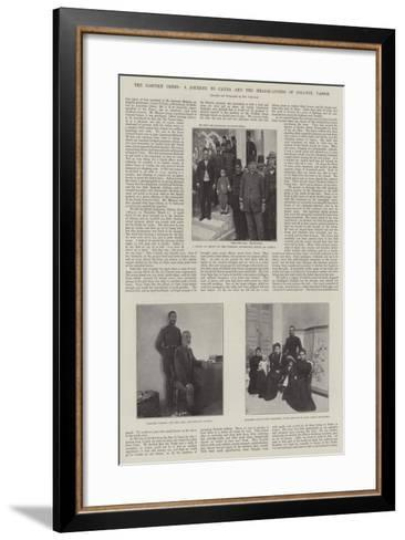The Eastern Crisis, a Journey to Canea and the Headquarters of Colonel Vassos--Framed Art Print
