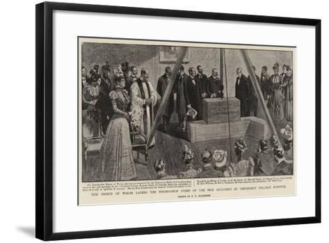 The Prince of Wales Laying the Foundation Stone of the New Buildings of University College Hospital--Framed Art Print