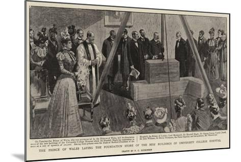 The Prince of Wales Laying the Foundation Stone of the New Buildings of University College Hospital--Mounted Giclee Print