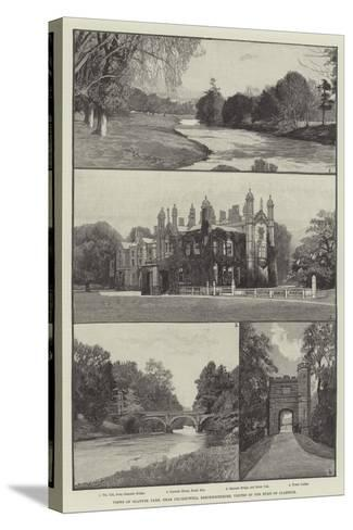 Views of Glanusk Park, Near Crickhowell, Brecknockshire, Visited by the Duke of Clarence--Stretched Canvas Print