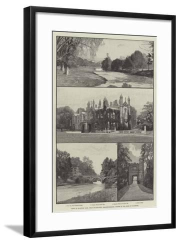 Views of Glanusk Park, Near Crickhowell, Brecknockshire, Visited by the Duke of Clarence--Framed Art Print