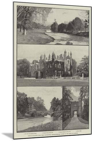 Views of Glanusk Park, Near Crickhowell, Brecknockshire, Visited by the Duke of Clarence--Mounted Giclee Print