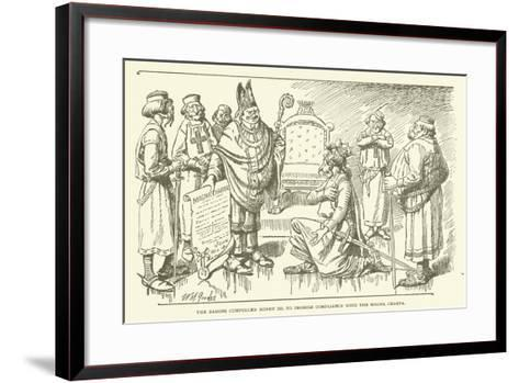 The Barons Compelled Henry III to Promise Compliance with the Magna Charta--Framed Art Print