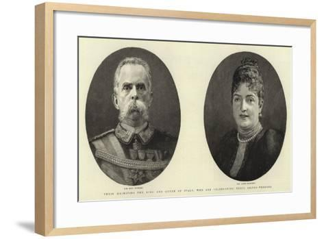 Their Majesties the King and Queen of Italy, Who are Celebrating their Silver-Wedding--Framed Art Print