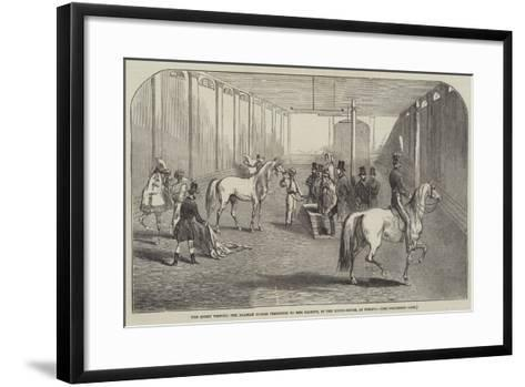 The Queen Viewing the Arabian Horses Presented to Her Majesty, in the Riding-House, at Pimlico--Framed Art Print