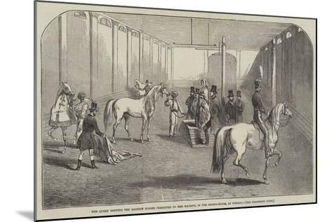The Queen Viewing the Arabian Horses Presented to Her Majesty, in the Riding-House, at Pimlico--Mounted Giclee Print