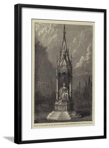 Statue of Her Majesty in the Victoria Gardens, Bombay, Presented by the Guicowar of Baroda--Framed Art Print