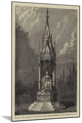 Statue of Her Majesty in the Victoria Gardens, Bombay, Presented by the Guicowar of Baroda--Mounted Giclee Print