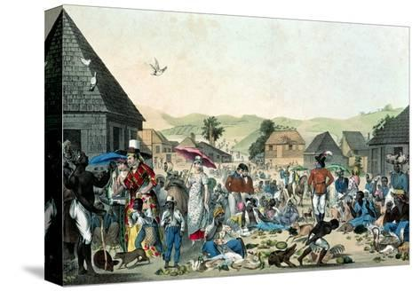 Negro Market in the West Indies, Published by Motte, 1806 (Colour Lith)--Stretched Canvas Print