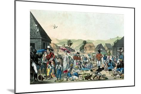 Negro Market in the West Indies, Published by Motte, 1806 (Colour Lith)--Mounted Giclee Print