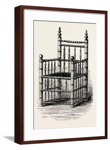 Brewster's Chair, Preserved at Pilgrim Hall, New Plymouth, USA, 1870S--Framed Art Print