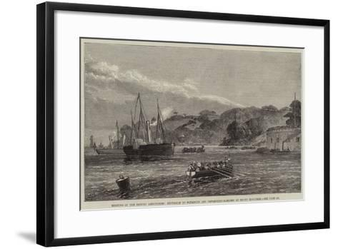 Meeting of the British Association, Excursion to Plymouth and Devonport, Landing at Mount Edgcumbe--Framed Art Print