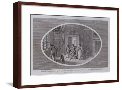 Charles I Taking Leave of His Family after Being Sentenced to Loose His Head by the Parliament--Framed Art Print