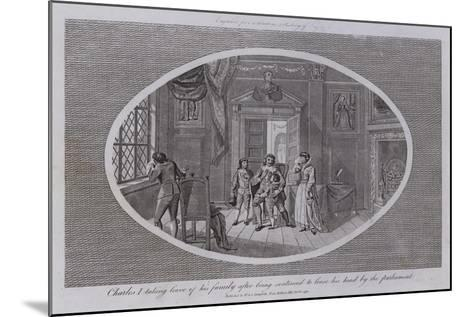 Charles I Taking Leave of His Family after Being Sentenced to Loose His Head by the Parliament--Mounted Giclee Print