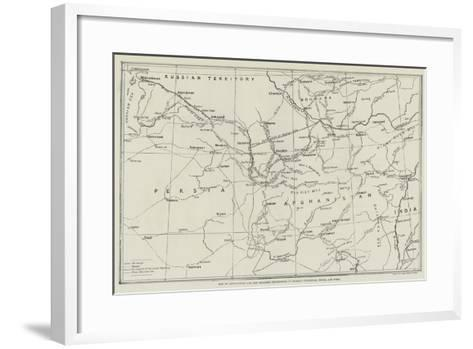 Map of Afghanistan and the Adjacent Territories of Russian Turkestan, Persia, and India--Framed Art Print