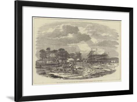 The Building in Hyde Park for the Great Exhibition of 1851, General View of the Works--Framed Art Print