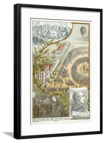 Jacques Charles Launching the First Hydrogen Balloon from the Champ De Mars, Paris, 27 August, 1783--Framed Art Print