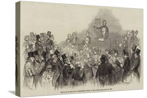 Sketch from the Sale of Shakespere's House, at the Auction Mart, 16 September 1847--Stretched Canvas Print