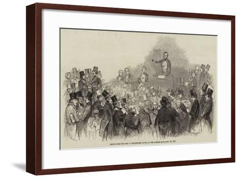 Sketch from the Sale of Shakespere's House, at the Auction Mart, 16 September 1847--Framed Art Print