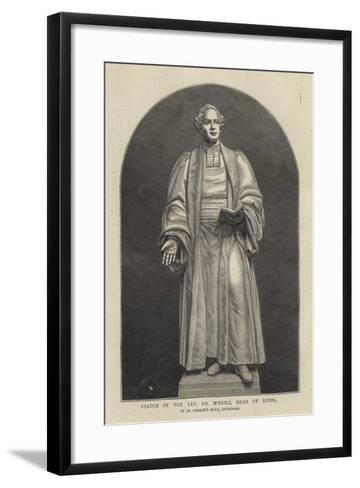 Statue of the Reverend Dr M'Neile, Dean of Ripon, in St George's Hall, Liverpool--Framed Art Print