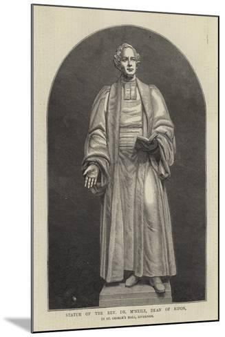 Statue of the Reverend Dr M'Neile, Dean of Ripon, in St George's Hall, Liverpool--Mounted Giclee Print