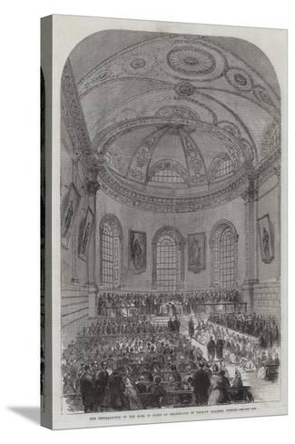 The Installation of the Earl of Rosse as Chancellor of Trinity College, Dublin--Stretched Canvas Print