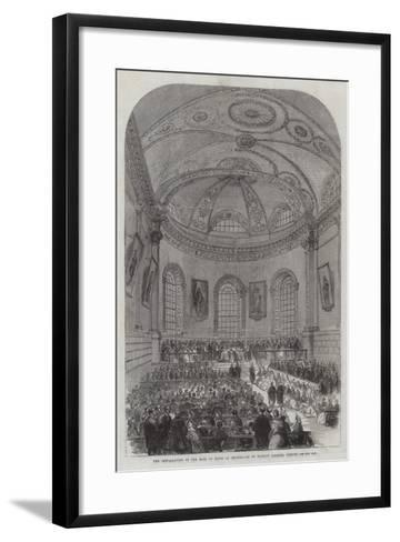 The Installation of the Earl of Rosse as Chancellor of Trinity College, Dublin--Framed Art Print