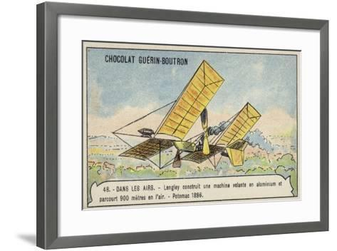 Langley's Aluminium Flying Machine Which Flew 900 Metres over the Potomac River, USA, 1896--Framed Art Print