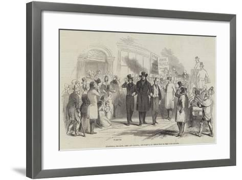 O'Connell, His Sons, John and Daniel, and Party, on their Way to the Four Courts--Framed Art Print
