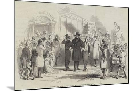 O'Connell, His Sons, John and Daniel, and Party, on their Way to the Four Courts--Mounted Giclee Print