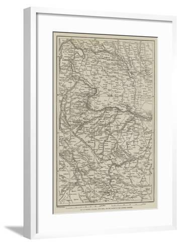 Map of Western Bulgaria, with Sofia, and the Danube to the Austrian Frontier--Framed Art Print