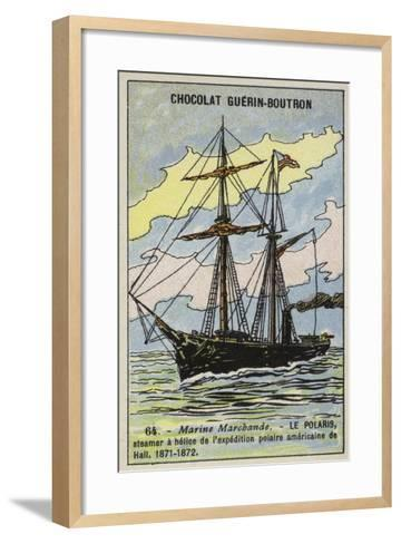 Polaris, Ship of Charles Francis Hall's American Expedition to the North Pole, 1871-1872--Framed Art Print
