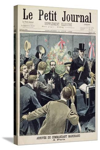 Arrival of Commander Marchand in Paris, Title Page from 'Le Petit Journal', 11 June 1899--Stretched Canvas Print