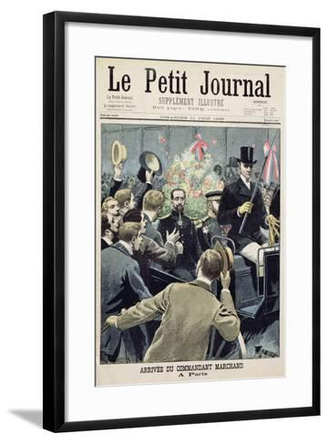 Arrival of Commander Marchand in Paris, Title Page from 'Le Petit Journal', 11 June 1899--Framed Art Print