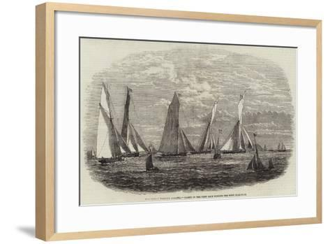 The Dublin Harbour Regatta, Yachts in the First Race Winding the First Flag-Boat--Framed Art Print