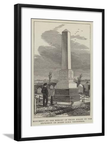 Monument to the Memory of Those Killed by the Explosion on Board HMS Thunderer--Framed Art Print