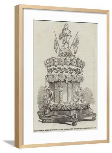 Marriage of Lord Edward Fitzalan Howard and Miss Talbot, the Bridal Cake--Framed Art Print