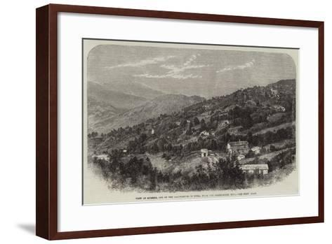 View of Murree, One of the Sanitariums in India, from the Observatory Hill--Framed Art Print